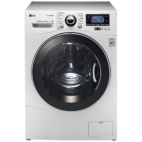 Buy LG F1495BDSA TrueSteam™ Washing Machine, 12kg Load, A+++ Energy Rating, 1400rpm Spin, White Online at johnlewis.com