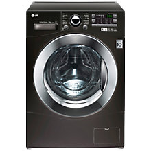 Buy LG F14A8TDA6 Freestanding Washing Machine, 8kg Load, A+++ Energy Rating, 1400rpm Spin, Black Online at johnlewis.com