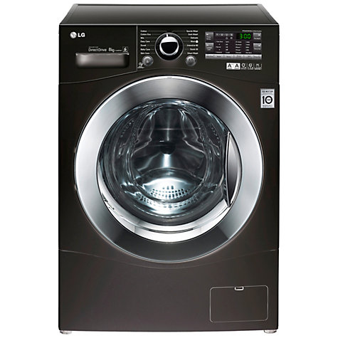 Buy LG F14A8TDA6 Washing Machine, 8kg Load, A+++ Energy Rating, 1400rpm Spin, Black Online at johnlewis.com