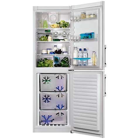 Buy Zanussi ZRB35338WA Fridge Freezer, A++ Energy Rating, 60cm Wide, White Online at johnlewis.com