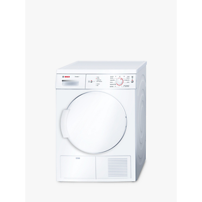 Bosch Classixx WTE84106GB Sensor Condenser Tumble Dryer, 7kg Load, B Energy Rating, White
