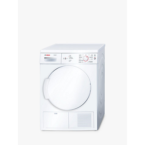 Buy Bosch Classixx WTE84106GB Sensor Condenser Tumble Dryer, 7kg Load, B Energy Rating, White Online at johnlewis.com