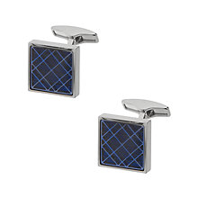 Buy Hugo Boss Gerol Cufflinks, Navy Online at johnlewis.com