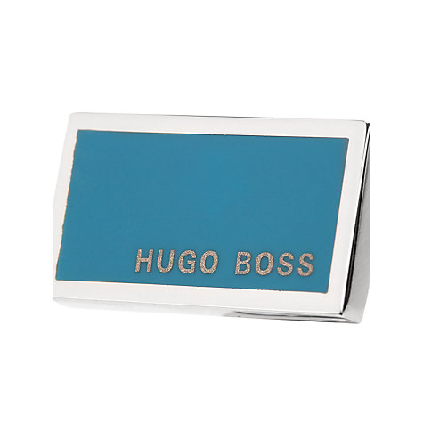 Buy Hugo Boss Camilo Cufflinks, Teal Online at johnlewis.com