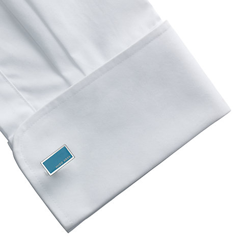 Buy BOSS Camilo Cufflinks, Teal Online at johnlewis.com