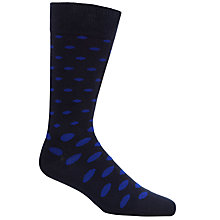 Buy Gant Oval Dot Pattern Socks, Navy/Blue, One Size Online at johnlewis.com
