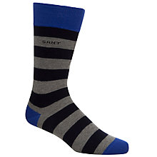 Buy Gant Contrast Stripe Socks, Navy/Grey, One Size Online at johnlewis.com