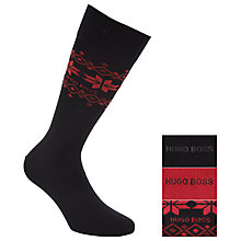 Buy Hugo Boss Cotton Socks, Pack of 3, Black/Red/Navy, One Size Online at johnlewis.com