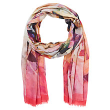 Buy Ted Baker Autumn Leaves Silk Scarf, Deep Pink Online at johnlewis.com