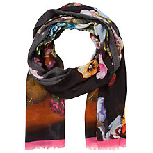 Buy Ted Baker Orozo Oil Painting Print Scarf, Black Multi Online at johnlewis.com
