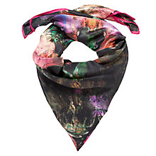 Buy Ted Baker Bejeweled Print Silk Scarf, Pink/Black Online at johnlewis.com