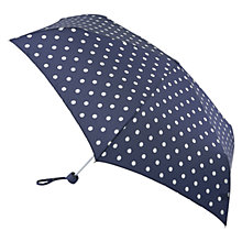 Buy Cath Kidston Slim Small Spot Umbrella, Navy/White Online at johnlewis.com