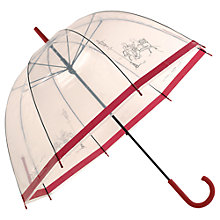 Buy Radley Parklife Birdcage Umbrella, Red Online at johnlewis.com