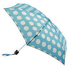Buy Cath Kidston Tiny Big Spot Umbrella, Turquoise Online at johnlewis.com