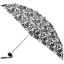 Buy John Lewis by Fulton Floral Print Mini Umbrella, Black Online at johnlewis.com