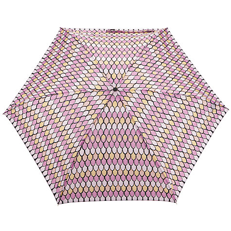 Buy John Lewis Vintage Print Mini Umbrella, Pink Online at johnlewis.com