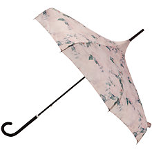 Buy Ted Baker Timeless Leaf Print Parasol, Pink Online at johnlewis.com