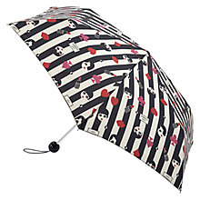 Buy Lulu Guinness Superslim Doll Face Print Umbrella, Black/Red Online at johnlewis.com