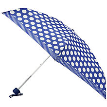 Buy John Lewis by Fulton Spot Mini Umbrella, Blue Online at johnlewis.com