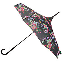 Buy Ted Baker Blossom Print Parasol, Black Multi Online at johnlewis.com