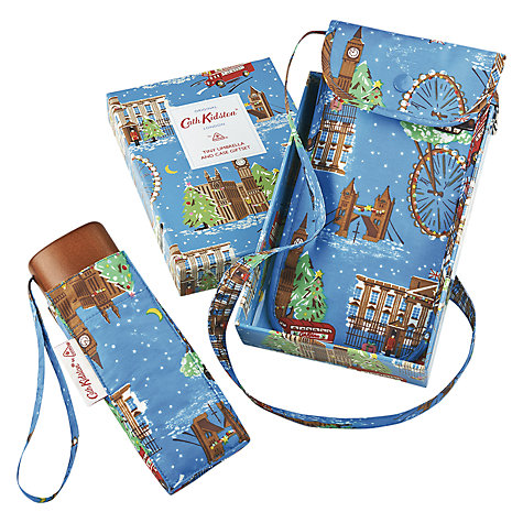 Buy Cath Kidston London Scene Xmas Umbrella Gift Box, Multi Online at johnlewis.com