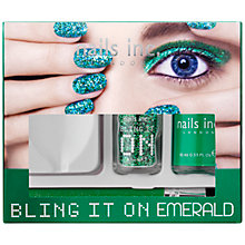 Buy Nails Inc. Bling It On Emerald Collection Online at johnlewis.com