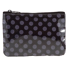 Buy John Lewis Spot Flat Purse, Grey Online at johnlewis.com