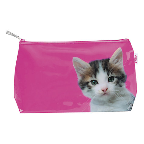 Buy Catseye Kitten Large Washbag, Hot Pink Online at johnlewis.com