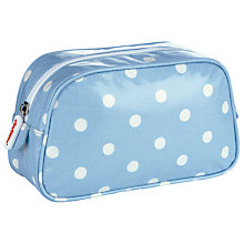 Buy Cath Kidston Spot Mid-Sized Make-Up Case, Blue Online at johnlewis.com