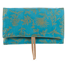 Buy John Lewis Classic Roll Wash Bag, Turquoise Online at johnlewis.com