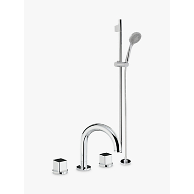 Abode Fervour Deck Mounted Bath/Shower Mixer with Sliding Rail Shower Kit