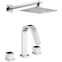 Buy Abode Extase Thermostatic Deck Mounted 3 Hole Bath Mixer and Wall Mounted Shower Online at johnlewis.com