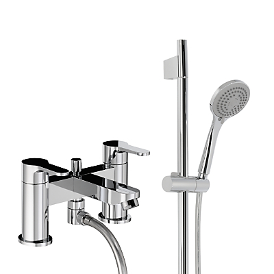 Abode Debut Deck Mounted Bath/Shower Mixer with Sliding Rail Shower Kit