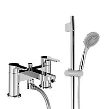 Buy Abode Debut Deck Mounted Bath/Shower Mixer with Sliding Rail Shower Kit Online at johnlewis.com