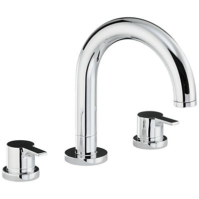 Abode Desire Thermostatic Deck Mounted 3 Hole Bath Mixer Tap