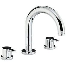 Buy Abode Desire Thermostatic Deck Mounted 3 Hole Bath Mixer Tap Online at johnlewis.com