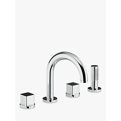 Abode Fervour Thermostatic Deck Mounted 3 Hole Bath Mixer Tap