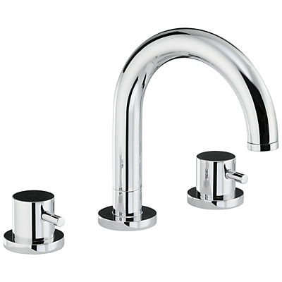 Abode Harmonie Thermostatic Deck Mounted 3 Hole Bath Mixer Tap