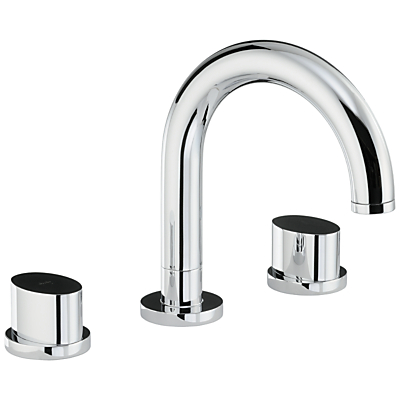 Abode Debut Thermostatic Deck Mounted 3 Hole Bath Mixer Tap