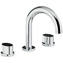 Buy Abode Debut Thermostatic Deck Mounted 3 Hole Bath Mixer Tap Online at johnlewis.com