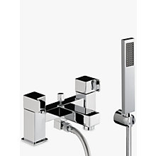 Buy Abode Rapport Deck Mounted Bath/Shower Mixer with Shower Handset Online at johnlewis.com