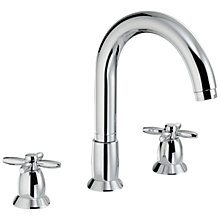 Buy Abode Opulence Thermostatic Deck Mounted 3 Hole Bath Mixer Tap Online at johnlewis.com