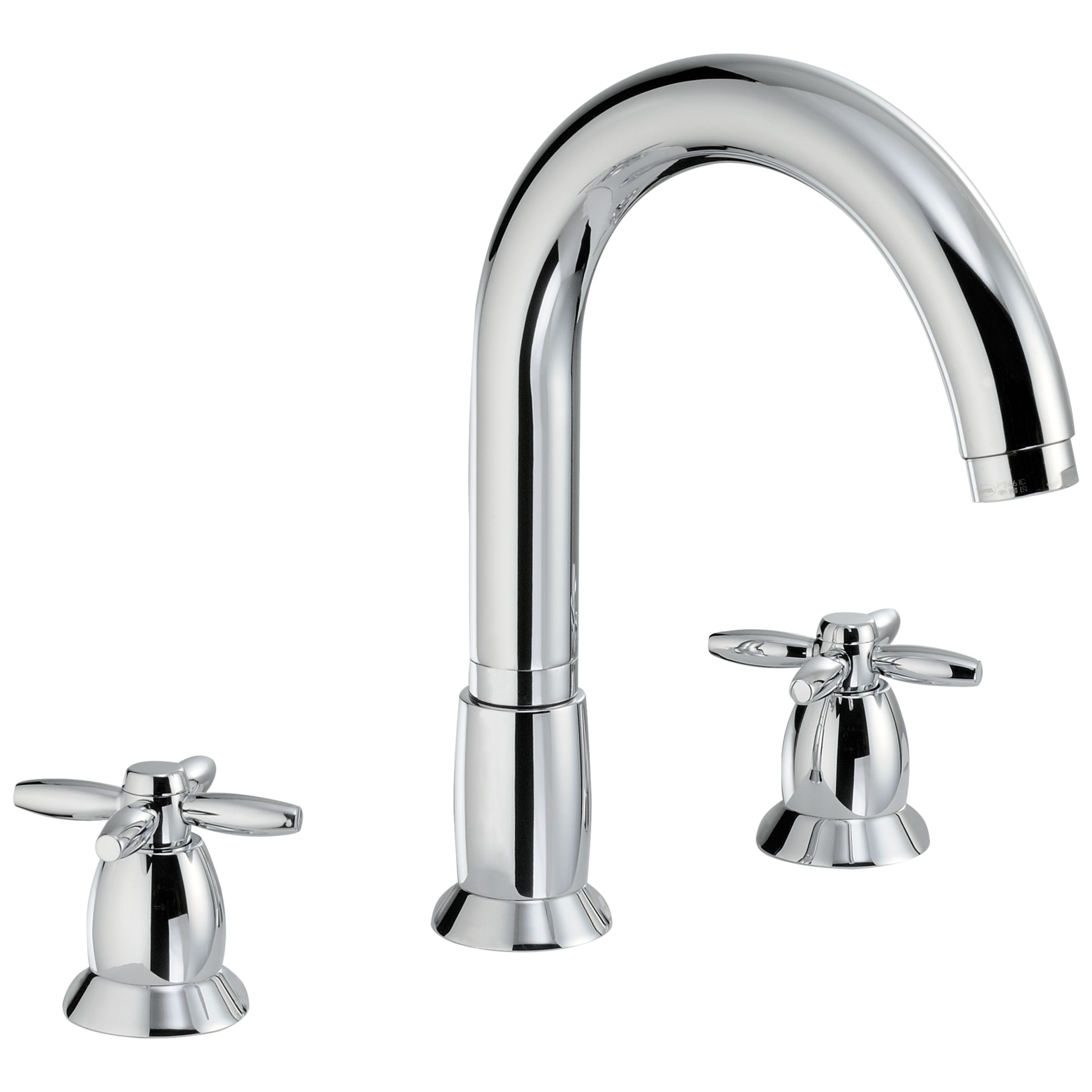 Abode Abode Opulence Thermostatic Deck Mounted 3 Hole Bath Mixer Tap
