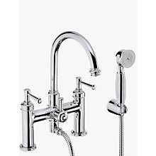 Buy Abode Gallant Deck Mounted Bath/Shower Mixer with Shower Handset Online at johnlewis.com