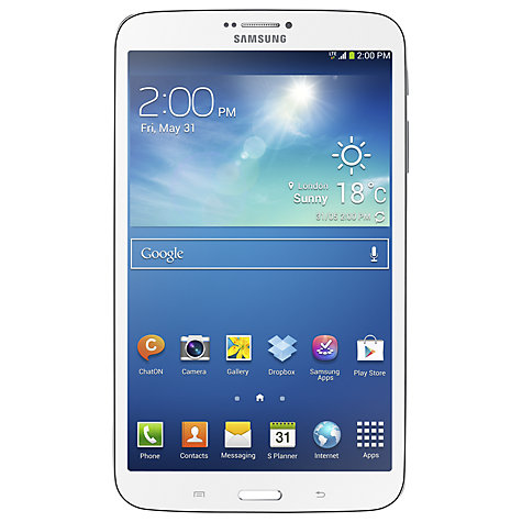 "Buy Samsung Galaxy Tab 3 8.0 Tablet, Samsung Exynos, Android, 8"", Wi-Fi, 16GB Online at johnlewis.com"