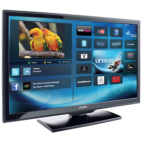 "Buy Linsar 50LED950S LED HD 1080p Smart TV, 50"" with Freeview HD, Black Online at johnlewis.com"