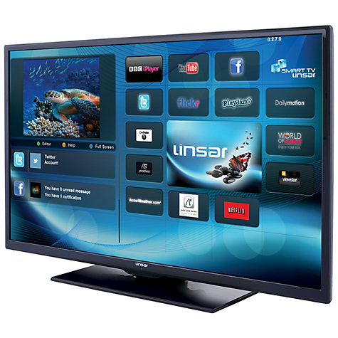 "Buy Linsar 39LED400S LED HD 1080p Smart TV, 39"" with Freeview HD, Black Online at johnlewis.com"