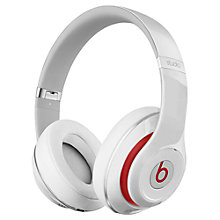 Buy Beats™ by Dr. Dre™ Studio Noise Cancelling Full-Size Headphones with Microphone, White Online at johnlewis.com