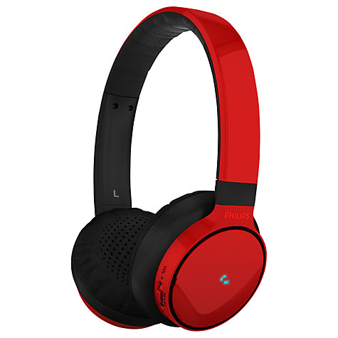 Buy Philips SHB9100/00 On-Ear Bluetooth Headphones with Microphone Online at johnlewis.com