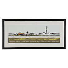 Buy James Lord - Hurst Lighthouse Framed Print, 48 x 98cm Online at johnlewis.com